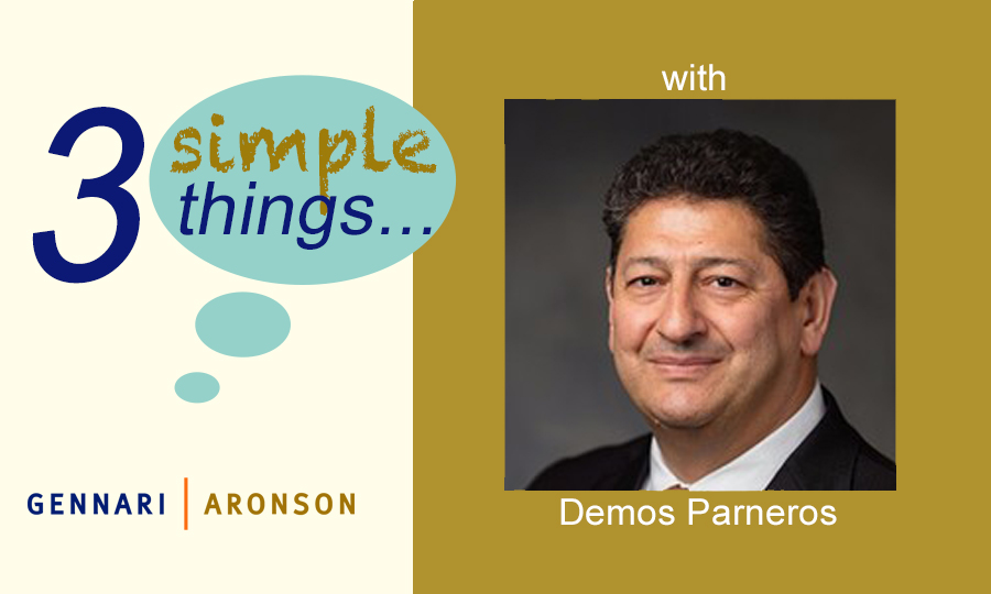 3 Simple Things​ ​with Demos Parneros Post Image