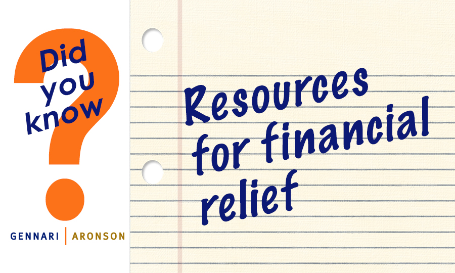 Financial relief resources Post Image