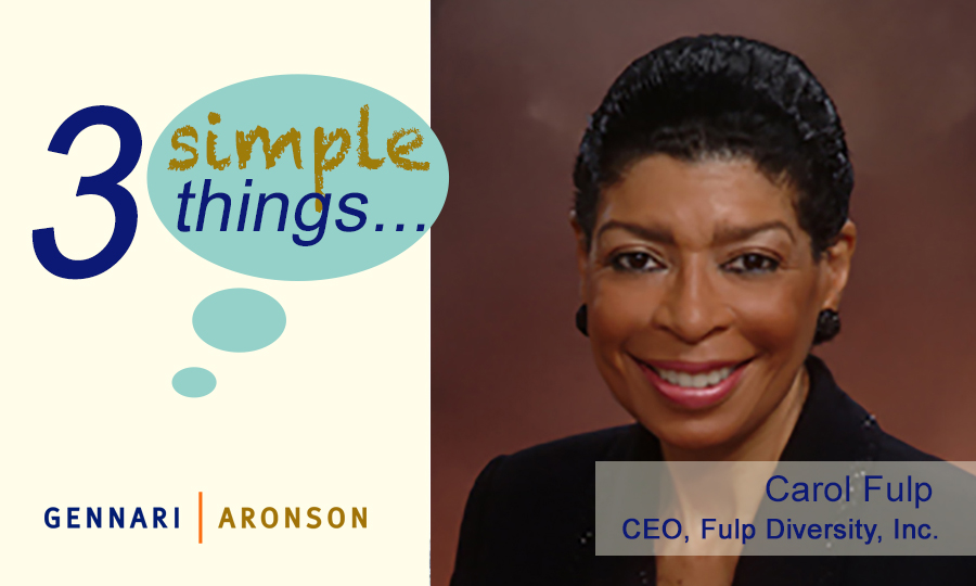 3 Simple Things with Carol Fulp Post Image