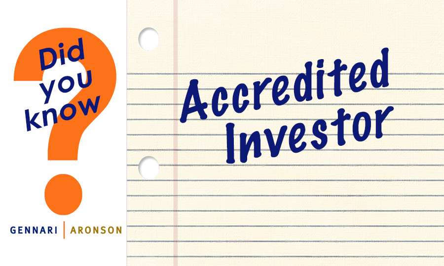 Accredited Investor Post Image