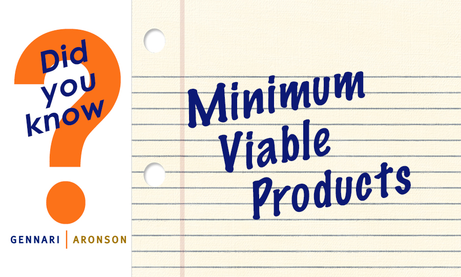 Minimum Viable Products Post Image