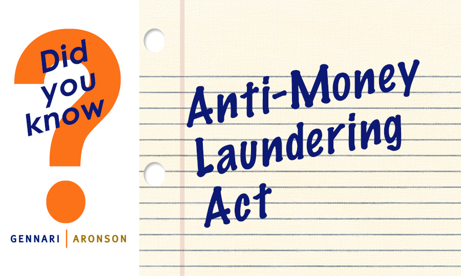 Anti-Money Laundering Act Post Image